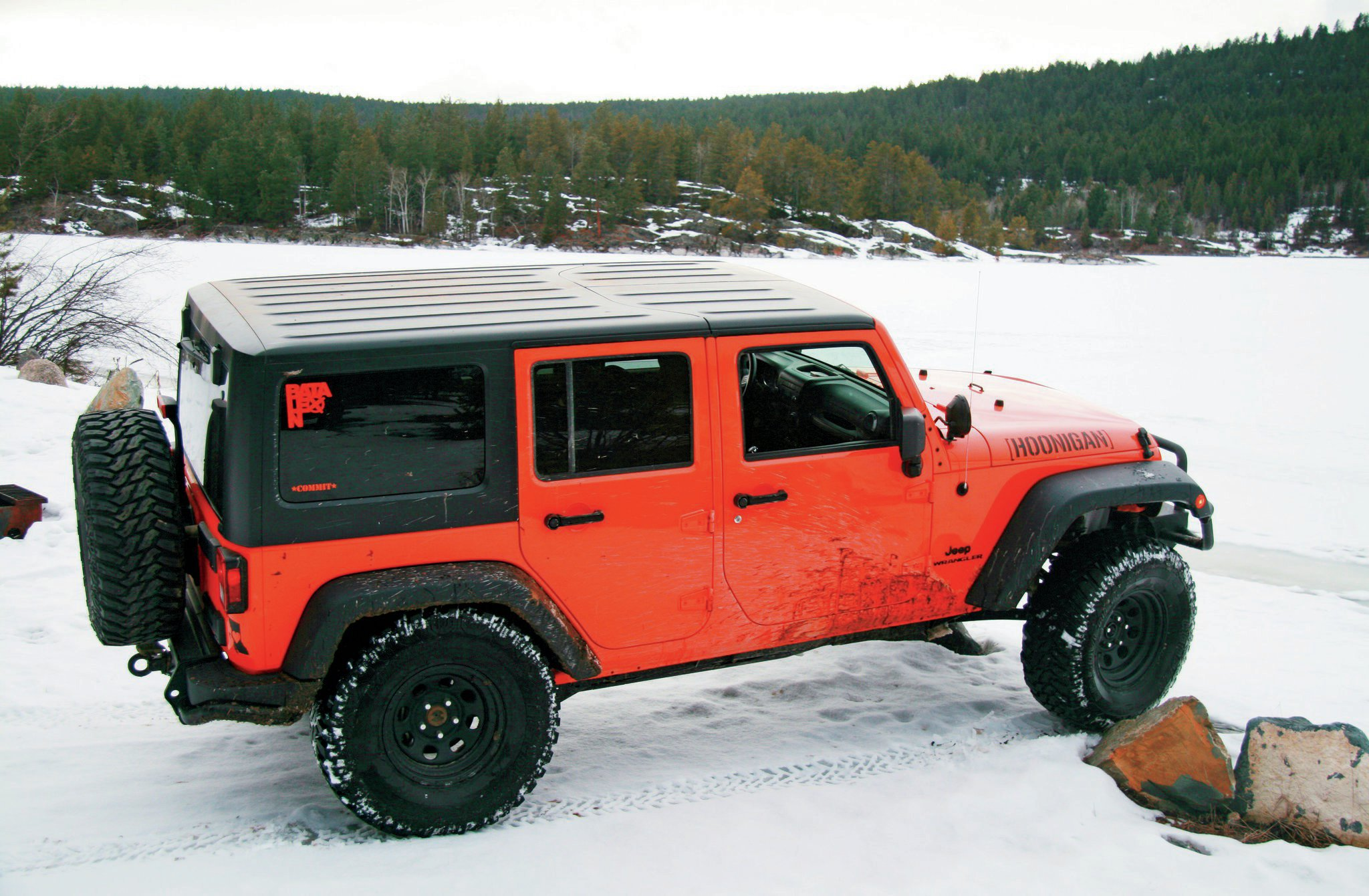 2012 Jeep Wrangler Unlimited side top view