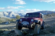 2010 Jeep Rubicon JK front three quarter