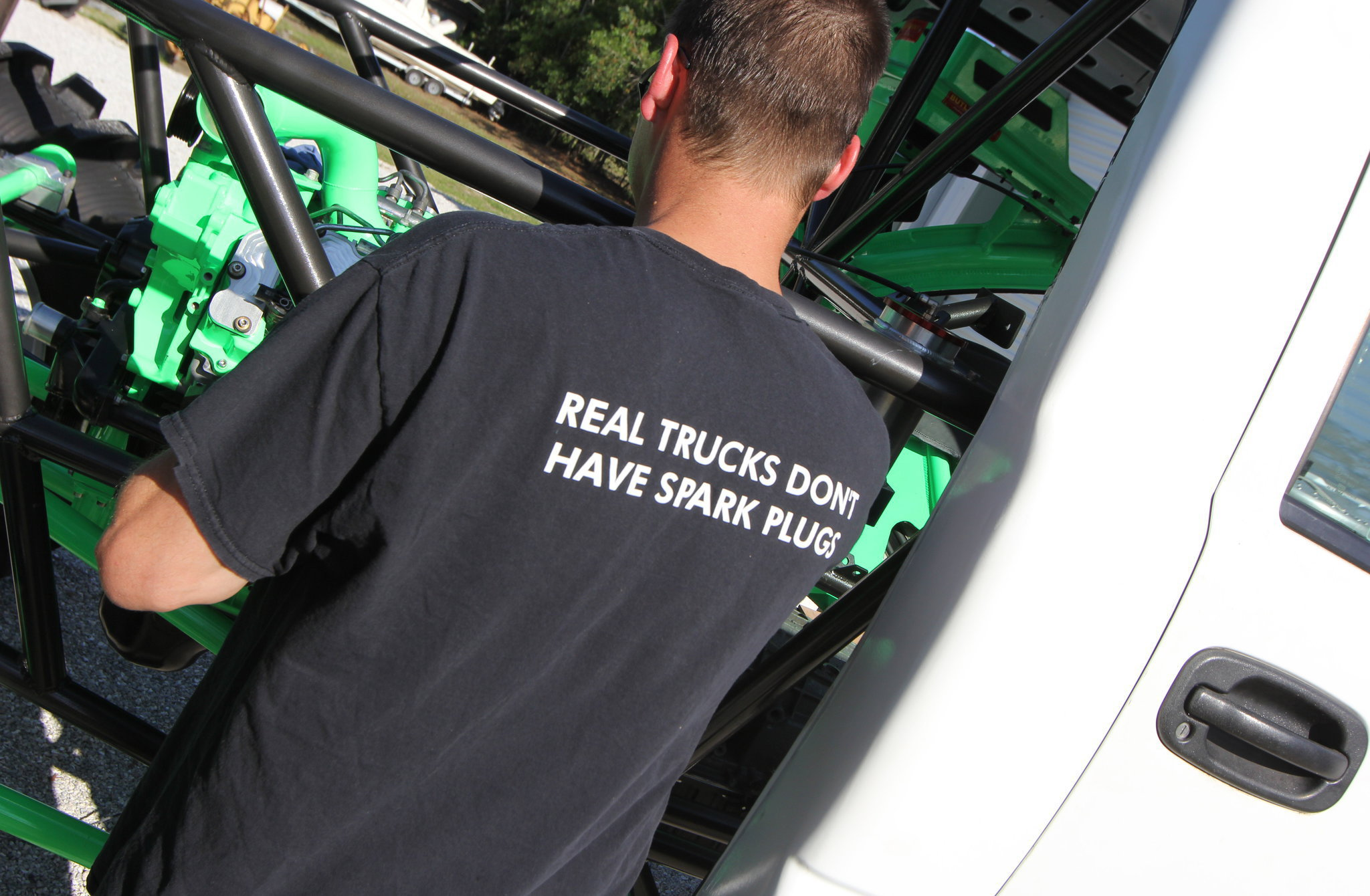 real trucks dont have spark plugs t shirt