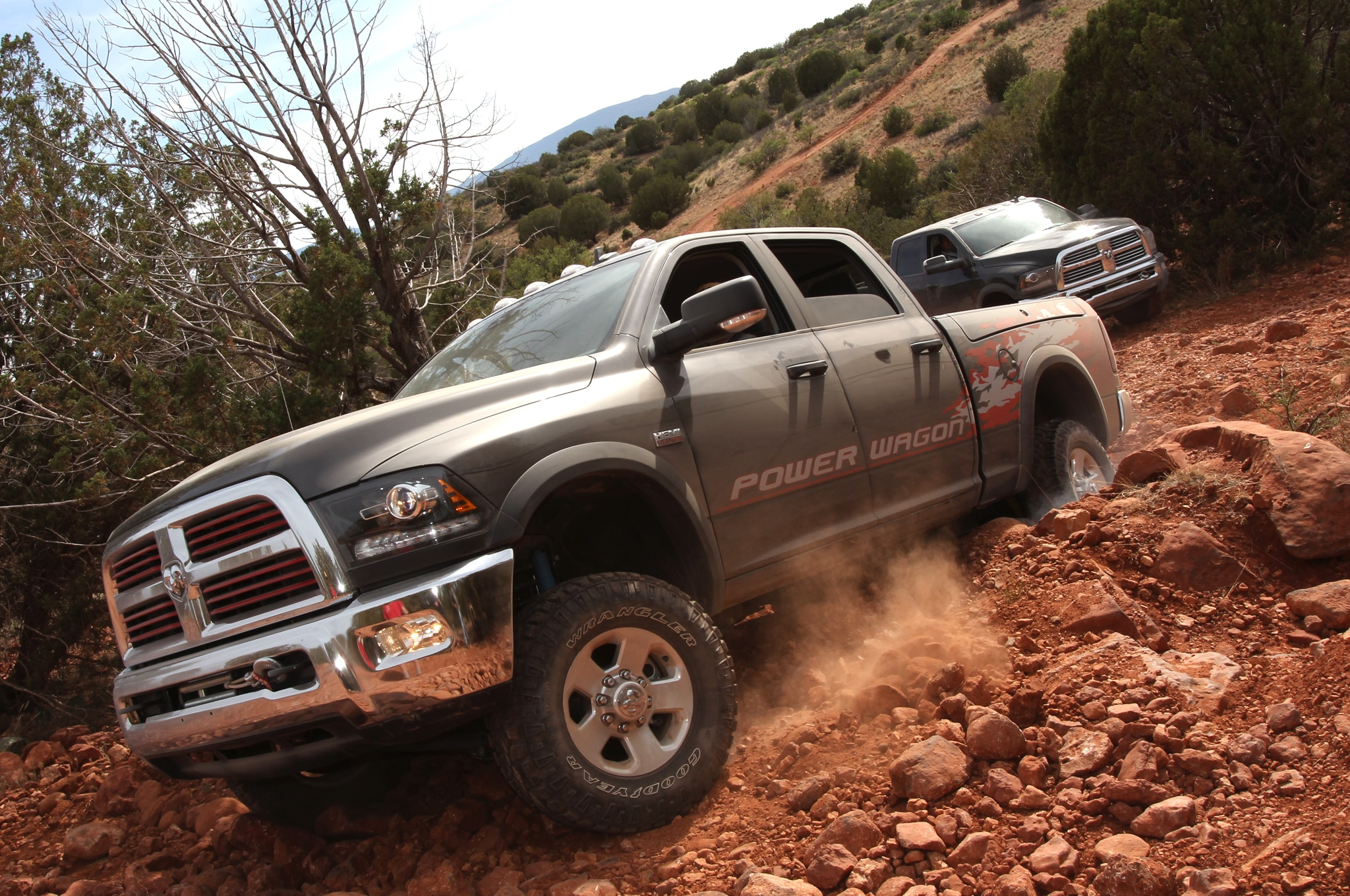 2014 Ram 2500 Power Wagon front view in motion
