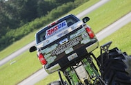 2008 chevy 2500 hd mud truck rear shot