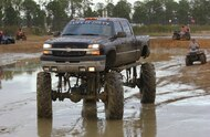 2004 chevy silverado mud truck in mud pit
