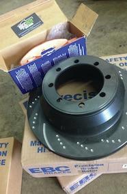 ebc brake rotor and pads