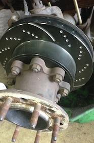 ebc brake rotors installed
