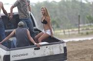mud girl in mud truck