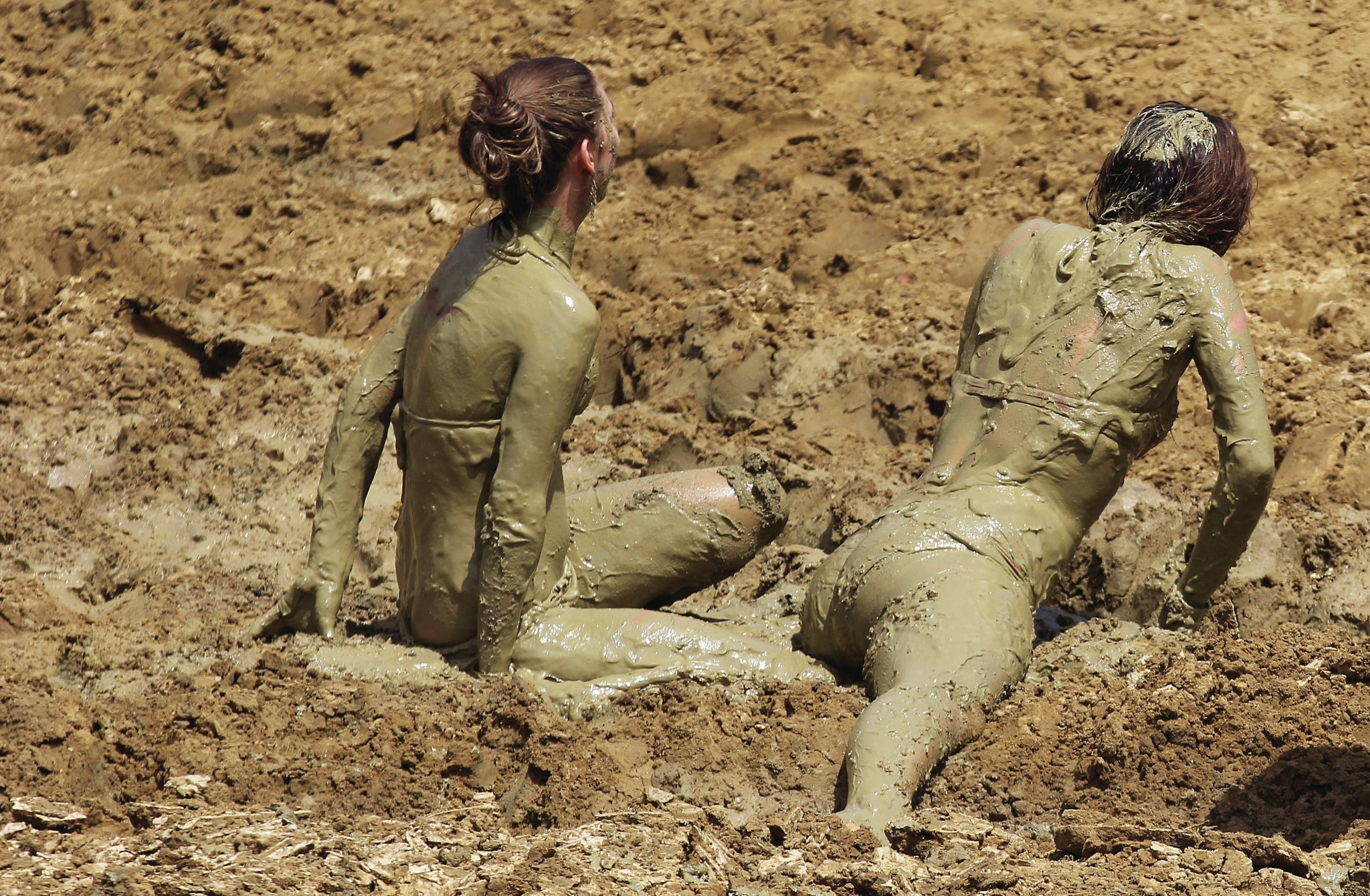 Mud Girls In Mud Photo 74833690