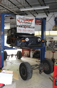 jeep tj with both axles removed