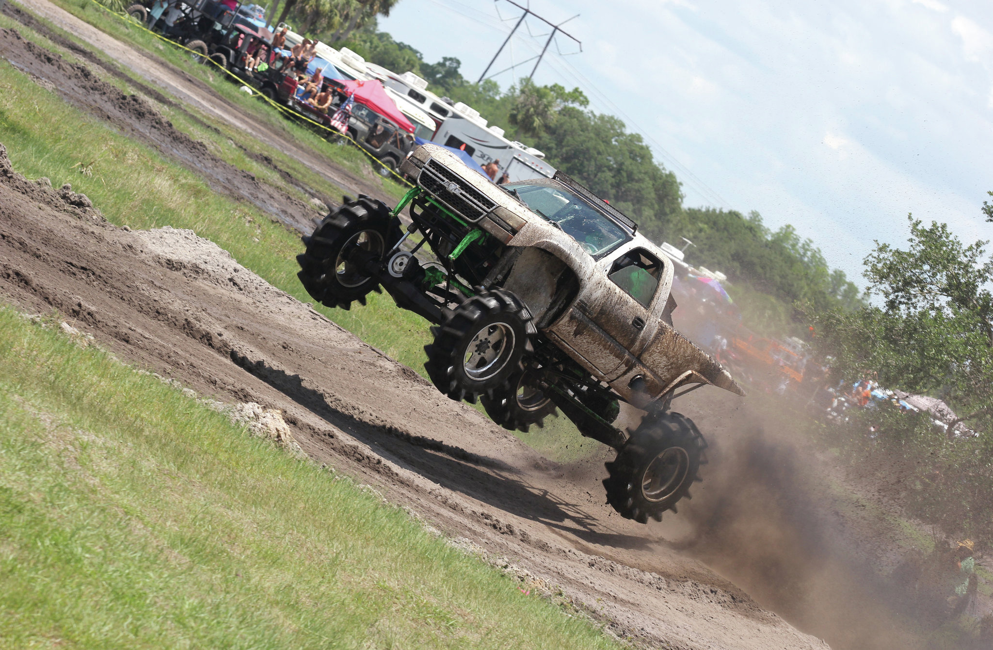 custom chevy silverado mud race truck