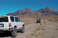 4runner wheeling on trail