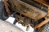 1965 toyota fj45lv land crusier rear axle