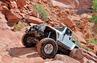 Jeep Wrangler Unlimited front three quarter