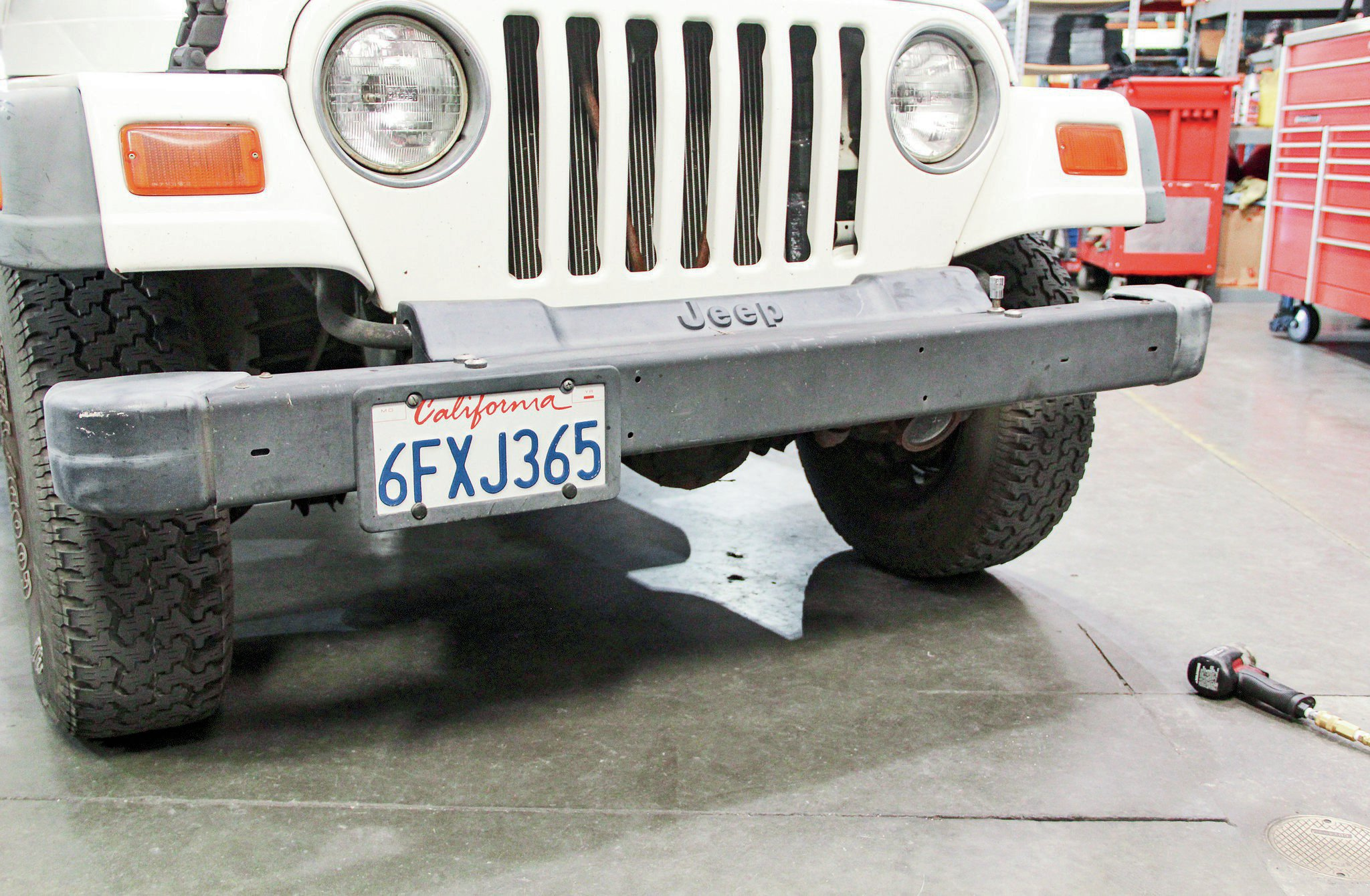 stock jeep tj bumper