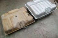 stock and replacement fuel tank