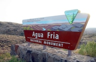 agua fira national monument sign