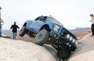 2012 Ford F250 Raptor fornt three quarter