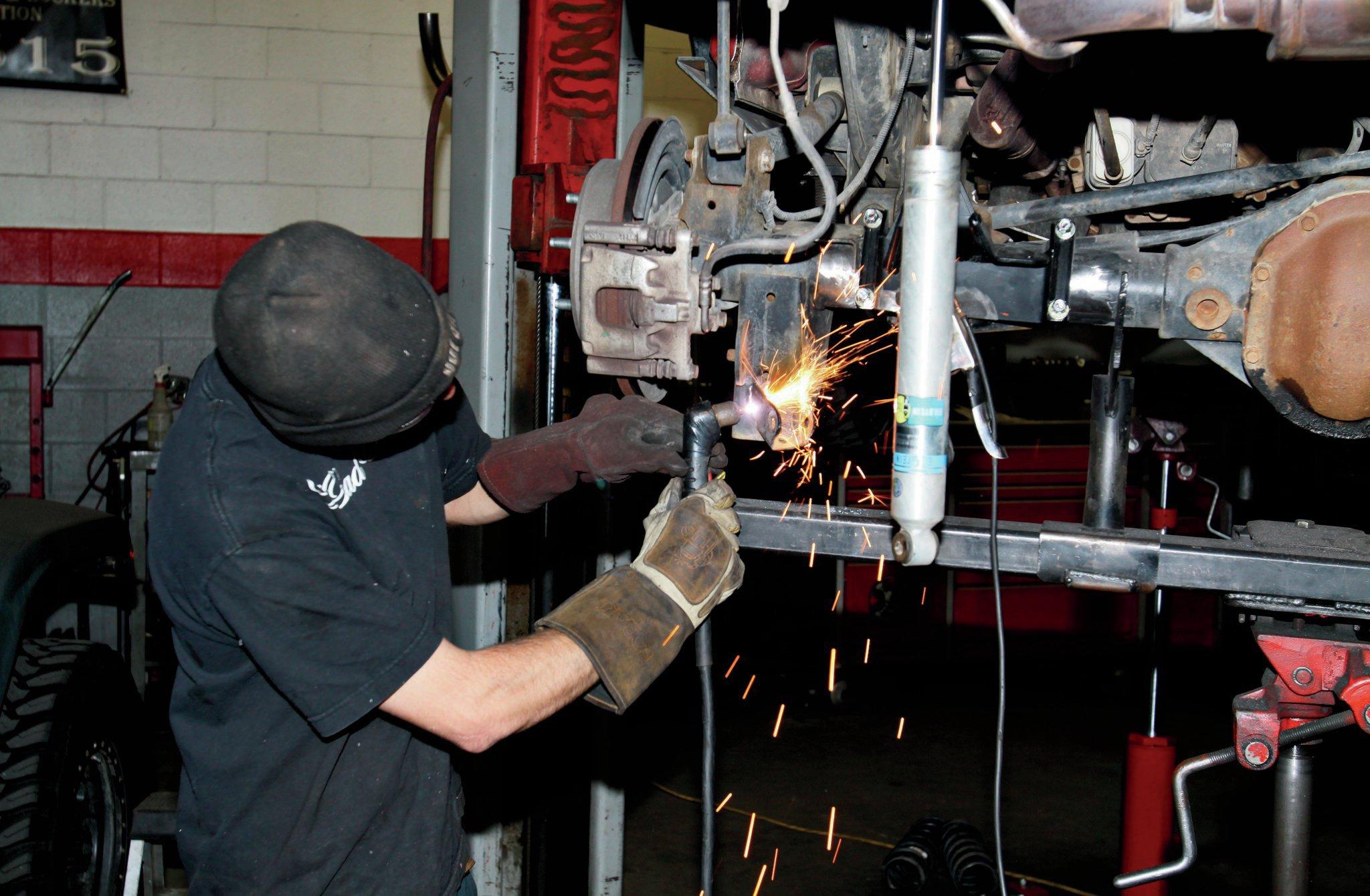 plasma cutting old shock mounts