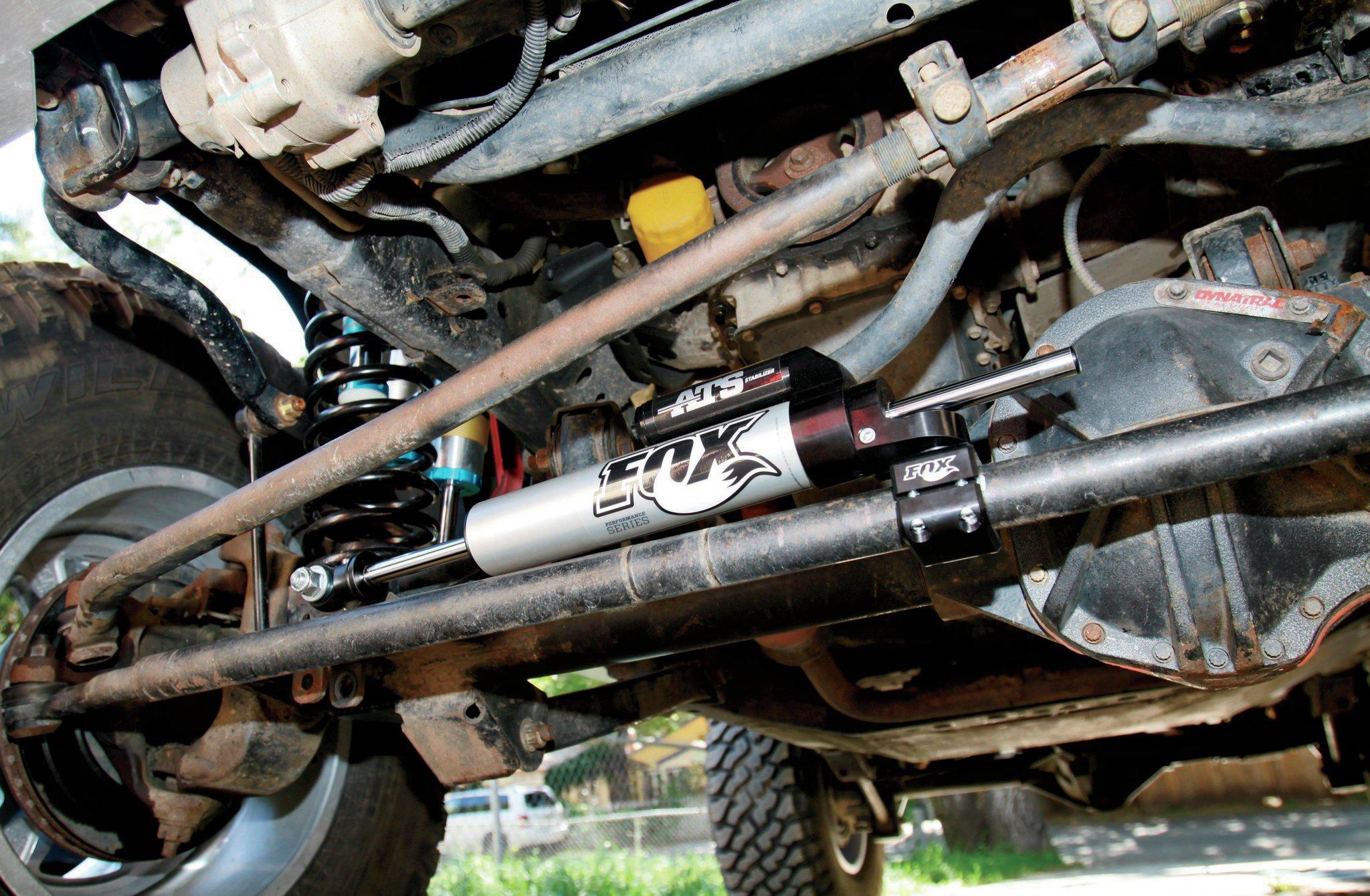 fox steering stabilizer install