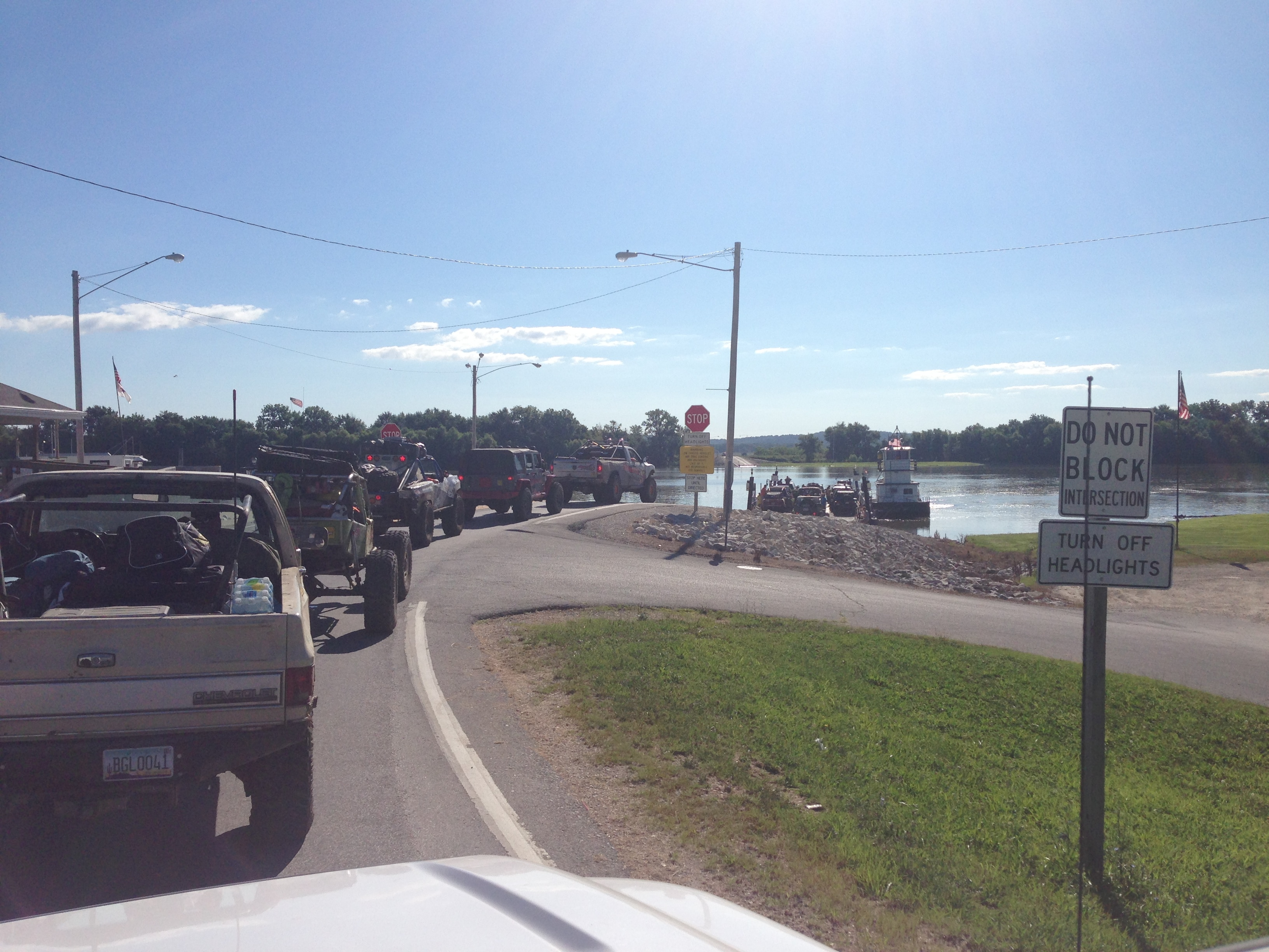 Ultimate Adventure 2014 Day 7 Road Day  1  crossing the Mississippi River on a Ferry.JPG