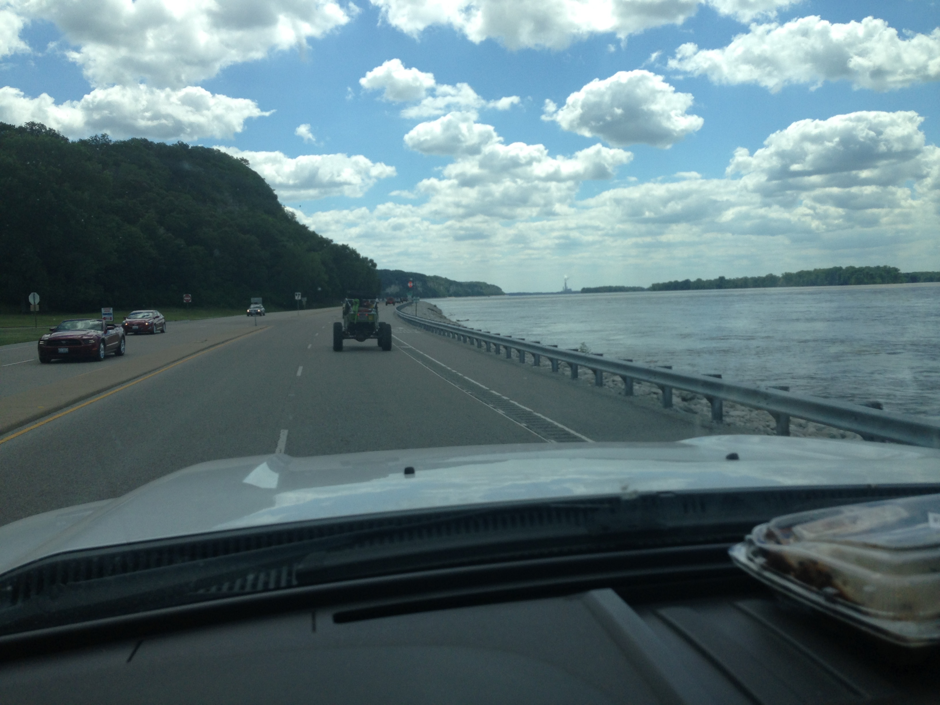 Ultimate Adventure 2014 Day 7 Road Day  7  parallelling the Mississipi river.JPG