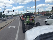 Ultimate Adventure 2014 Day 7 Road Day  10  UA Rigs Rolling Through Town.JPG