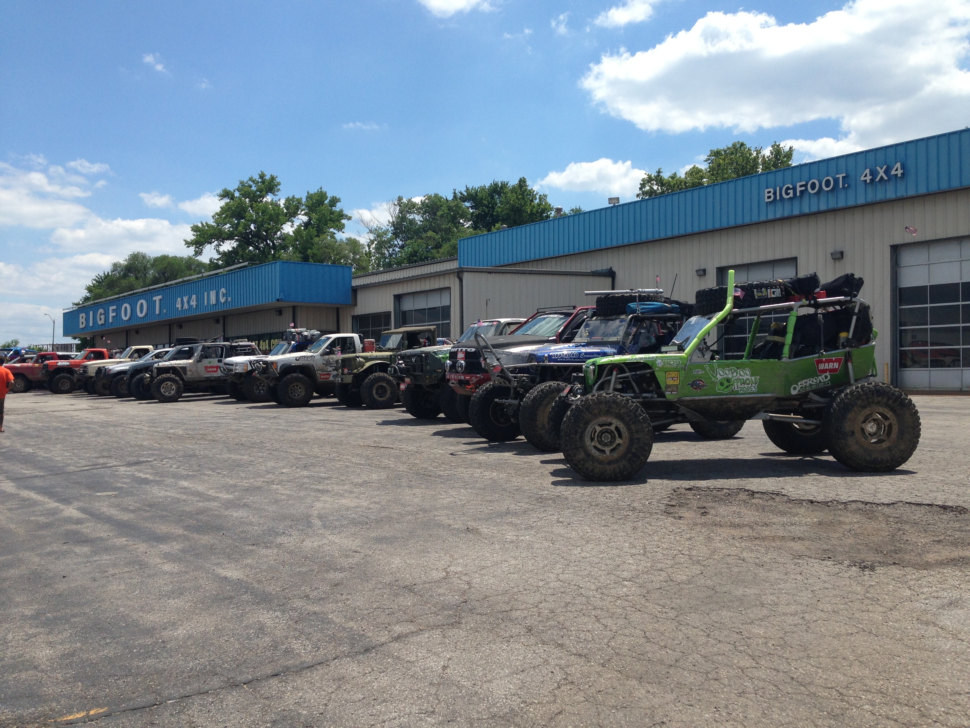 Ultimate Adventure 2014 Day 7 Road Day  15  Ultimate Adventure crew at Bigfoot 4x4 headquarters.JPG
