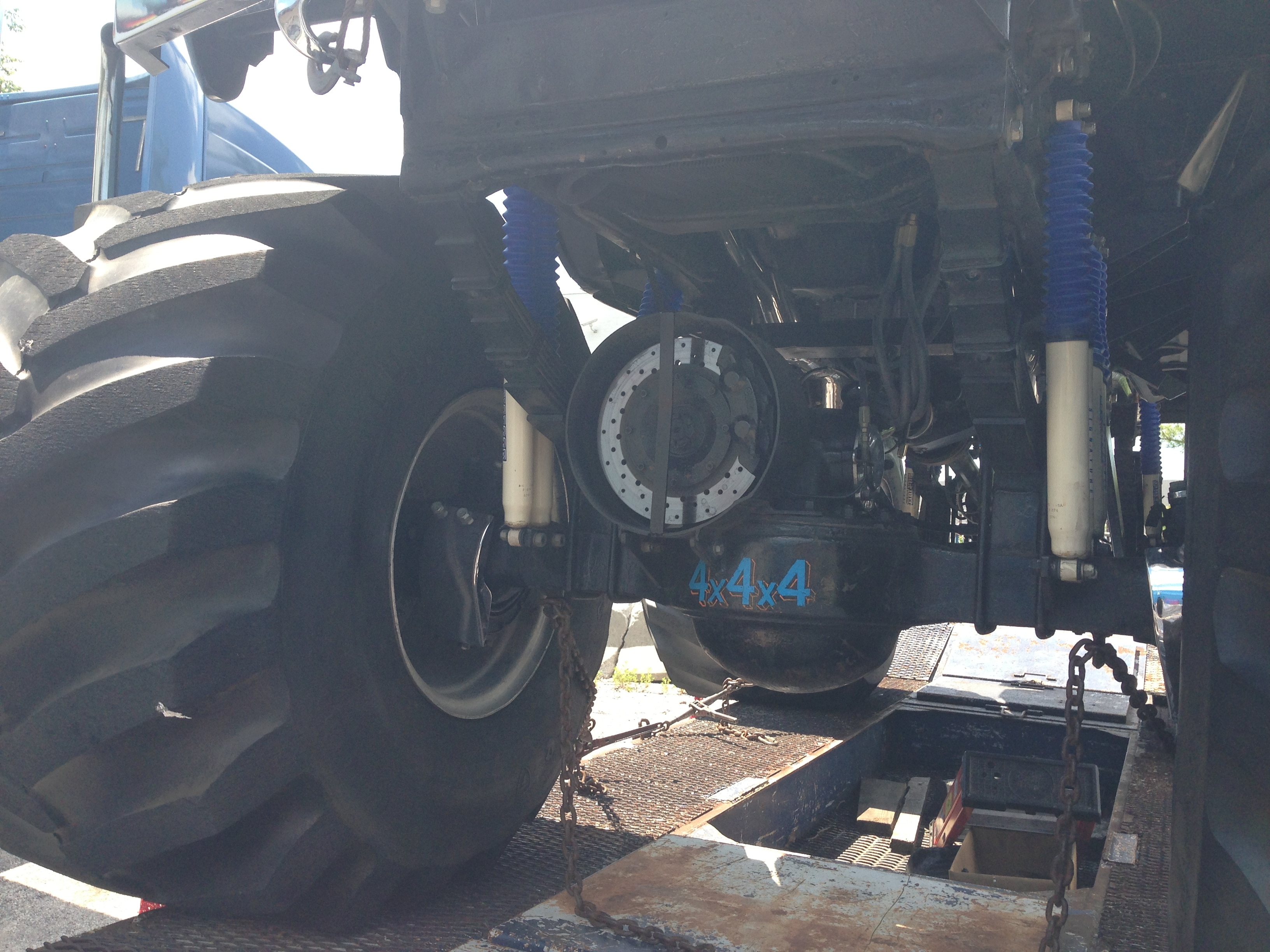 Ultimate Adventure 2014 Day 7 Road Day  26  Bigfoot Monster Truck front axle.JPG