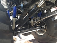 Ultimate Adventure 2014 Day 7 Road Day  28  Bigfoot Monster Truck front suspension.JPG
