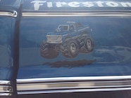 Ultimate Adventure 2014 Day 7 Road Day  30   Bigfoot Monster Truck door art.JPG