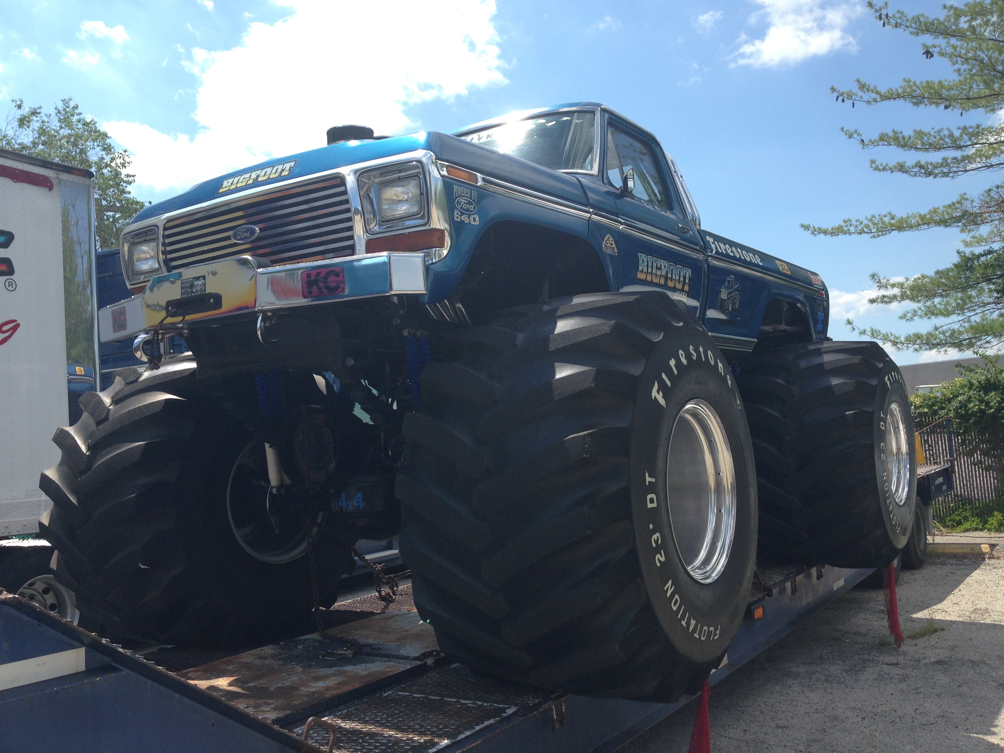 Ultimate Adventure 2014 Day 7 Road Day  37   Bigfoot Monster Truck front three quarter.JPG