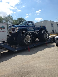 Ultimate Adventure 2014 Day 7 Road Day  41   Bigfoot Monster Truck on trailer.JPG