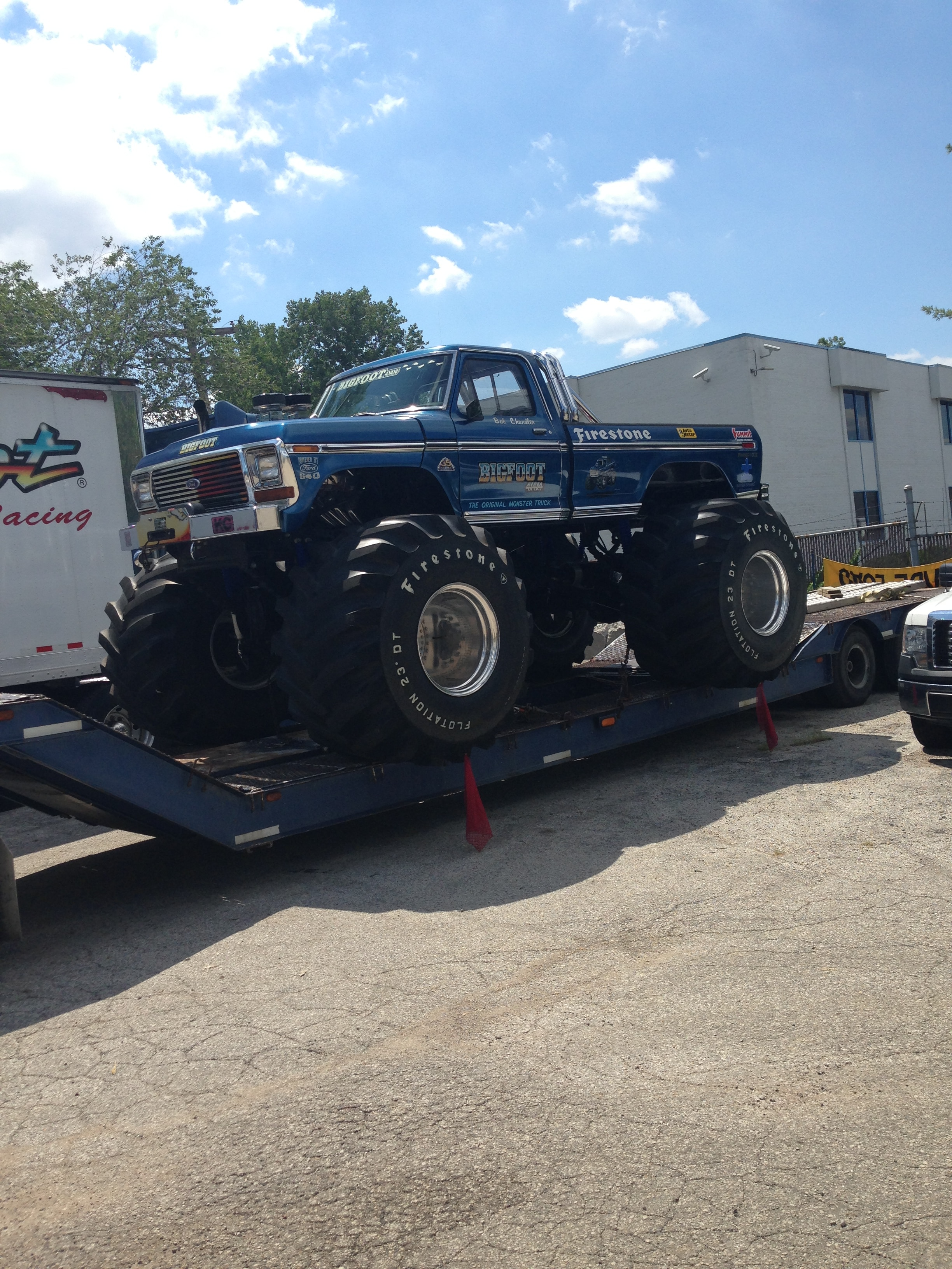 Ultimate Adventure 2014 Day 7 Road Day  41   Bigfoot Monster Truck on trailer.JPG