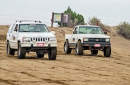 jeep grand cherokee and chevy s10 drag race