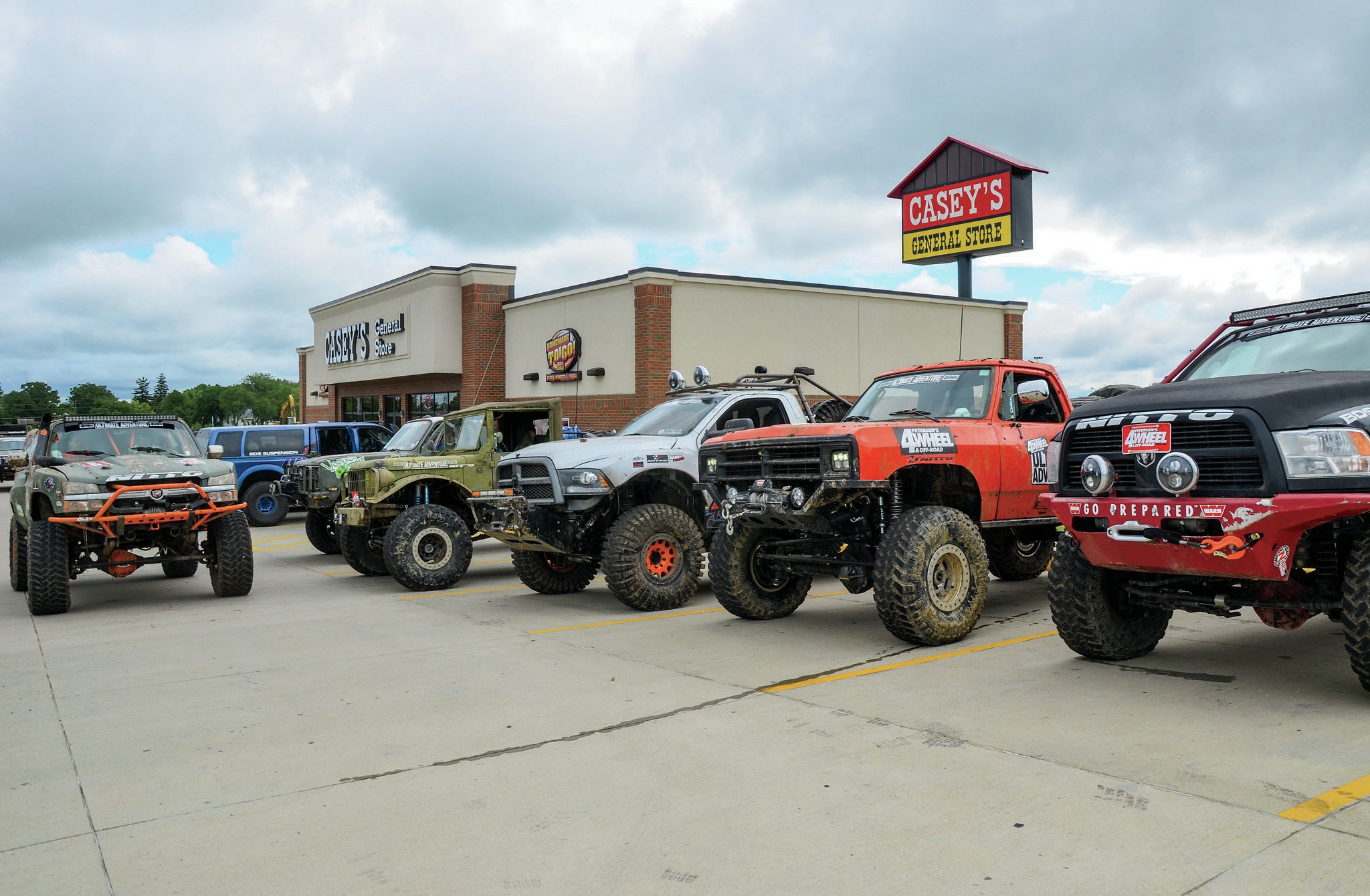 Ultimate Adventure 2014 had lots and lots of fullsize rigs. Here are just a few of the big rigs to hit the trails on this year's adventure. The only fullsizes not shown in this picture were the Voodoo Crew's own Trent McGee's budget-built '89 Blazer and reader Bryan Schlagel's '78 Bronco. All these big rigs made the trip relatively unscathed despite early warnings from Péwé about tight squeezes between trees and rocks. Fullsize rigs add a bit of a challenge to the UA but also provide more room for packing gear, tools, and parts. Can you guess the heaviest rig on the trip? Here is a hint. It's in this picture.