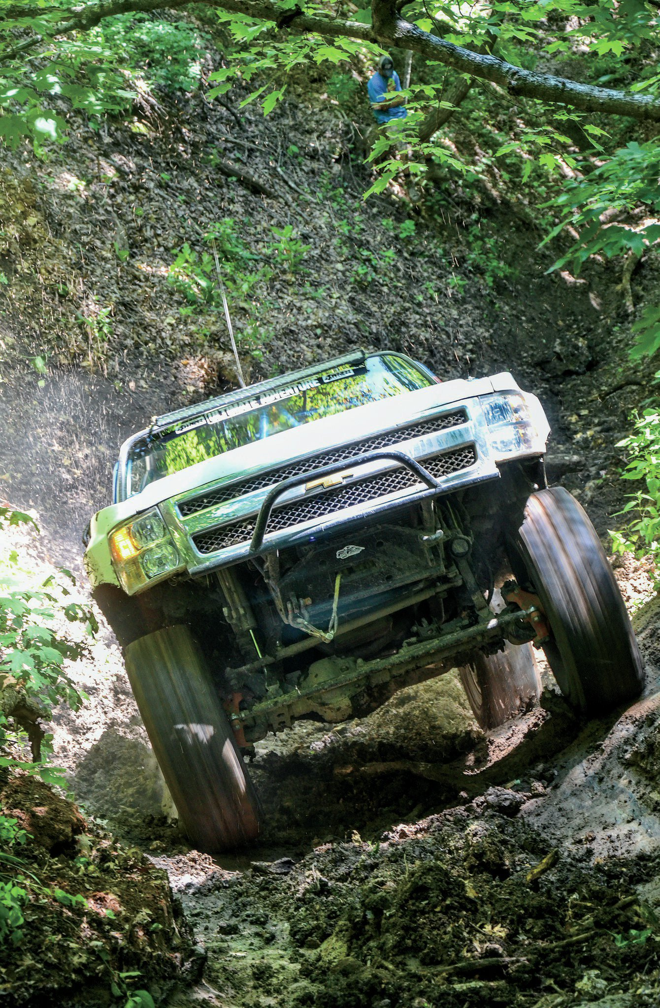 Wouldn't it be nice if this image came with sounds that went along with the action? Trying to use words to convey the volume coming out of Kevin Stearn's '83 Chevy Blazer would be tough, but trust us when we say it was sweet.