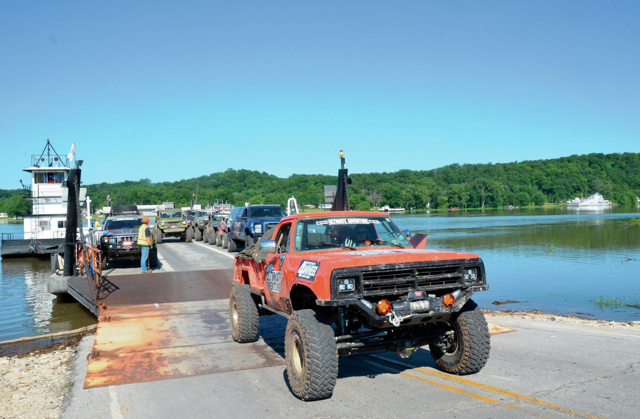 Packing a ferry full of UA rigs