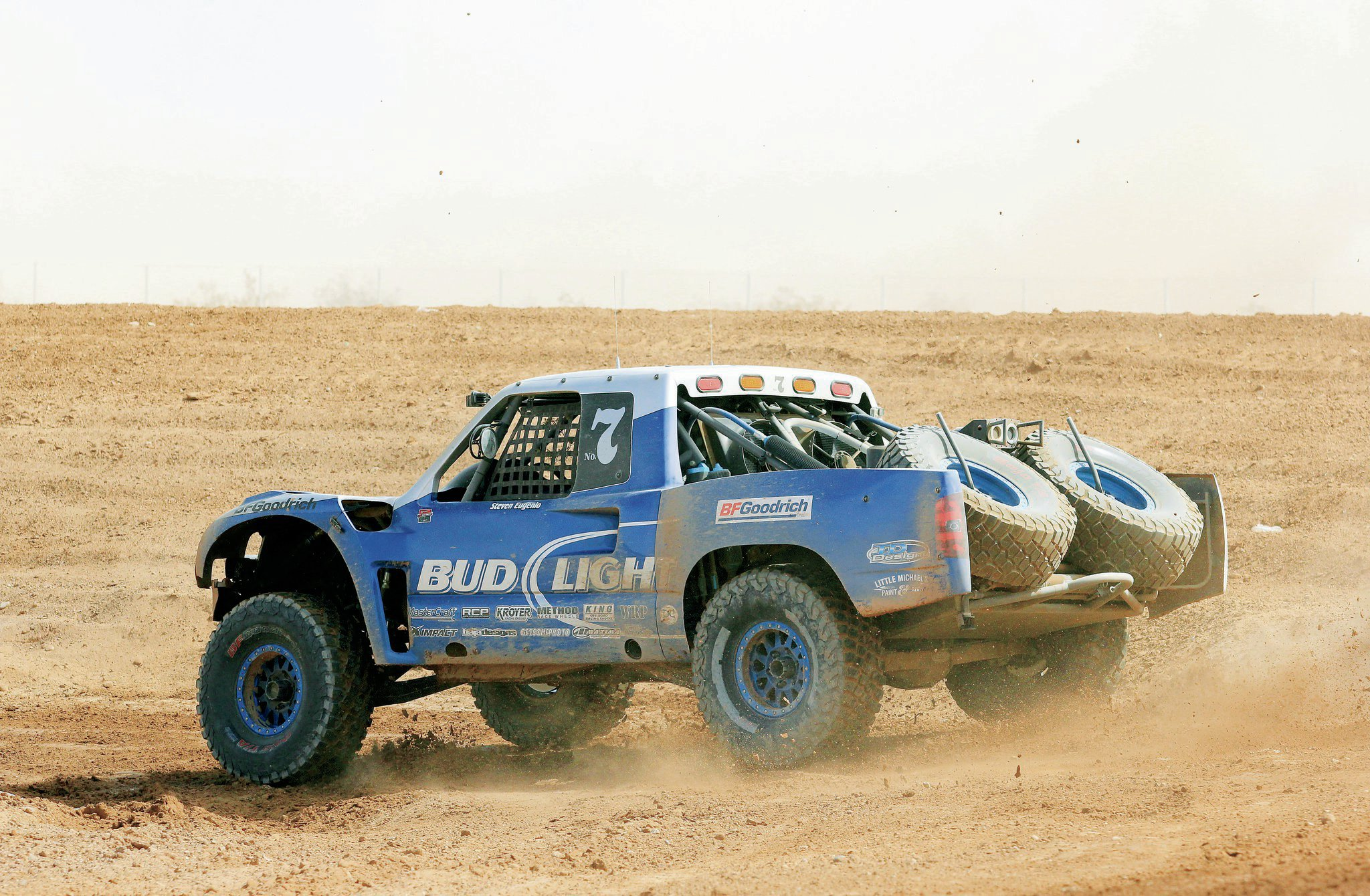 Steven Eugenio was the fastest Trophy Truck on the course.