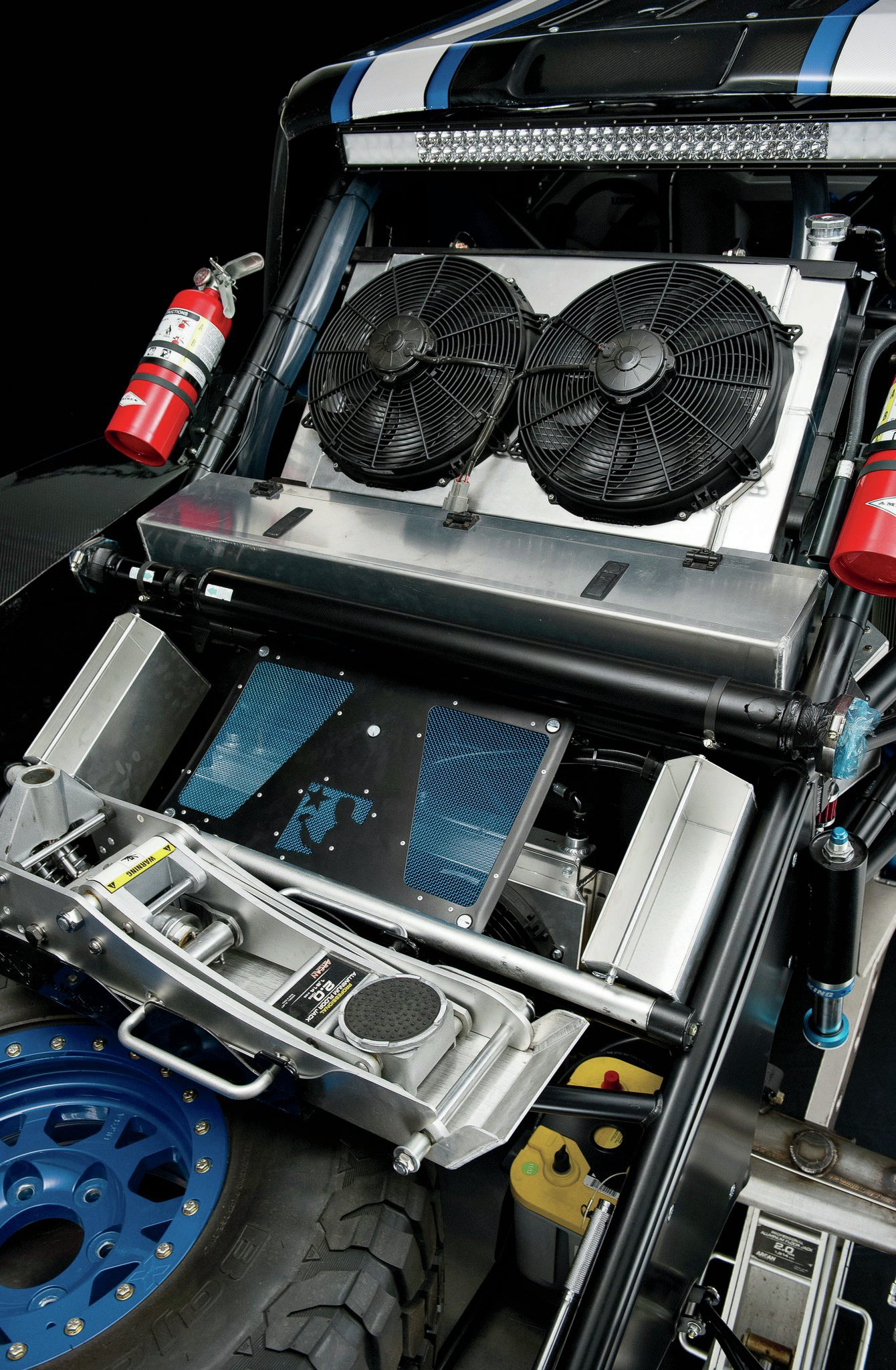 The cooling system consists of a CBR radiator and transmission cooler and custom Brenthel plumbing.