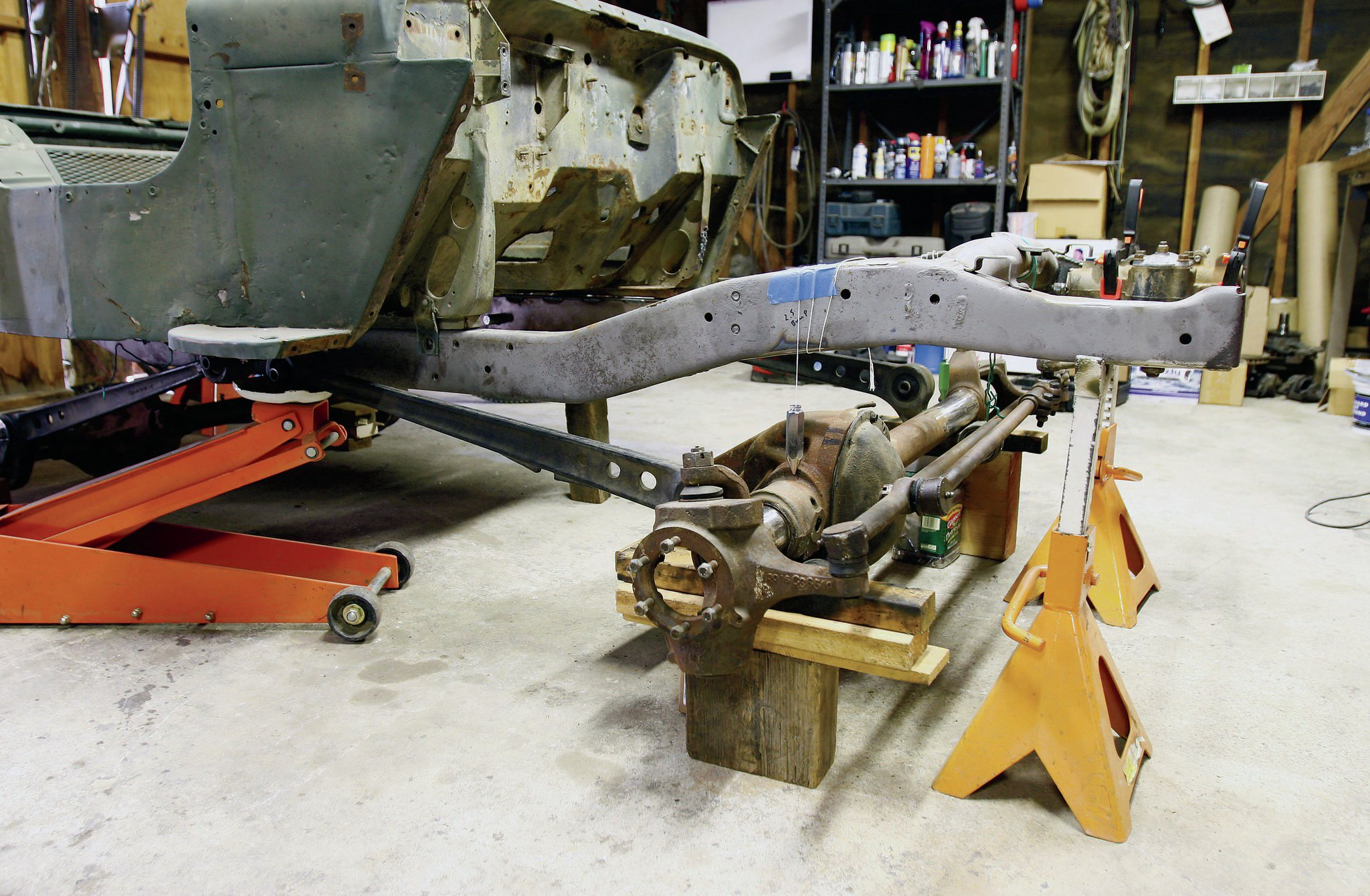 In the next instalment of our Garage Project GPW, we'll attack the suspension. Here's a sneak peek of what we are up to.