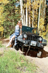 katie and her jeep