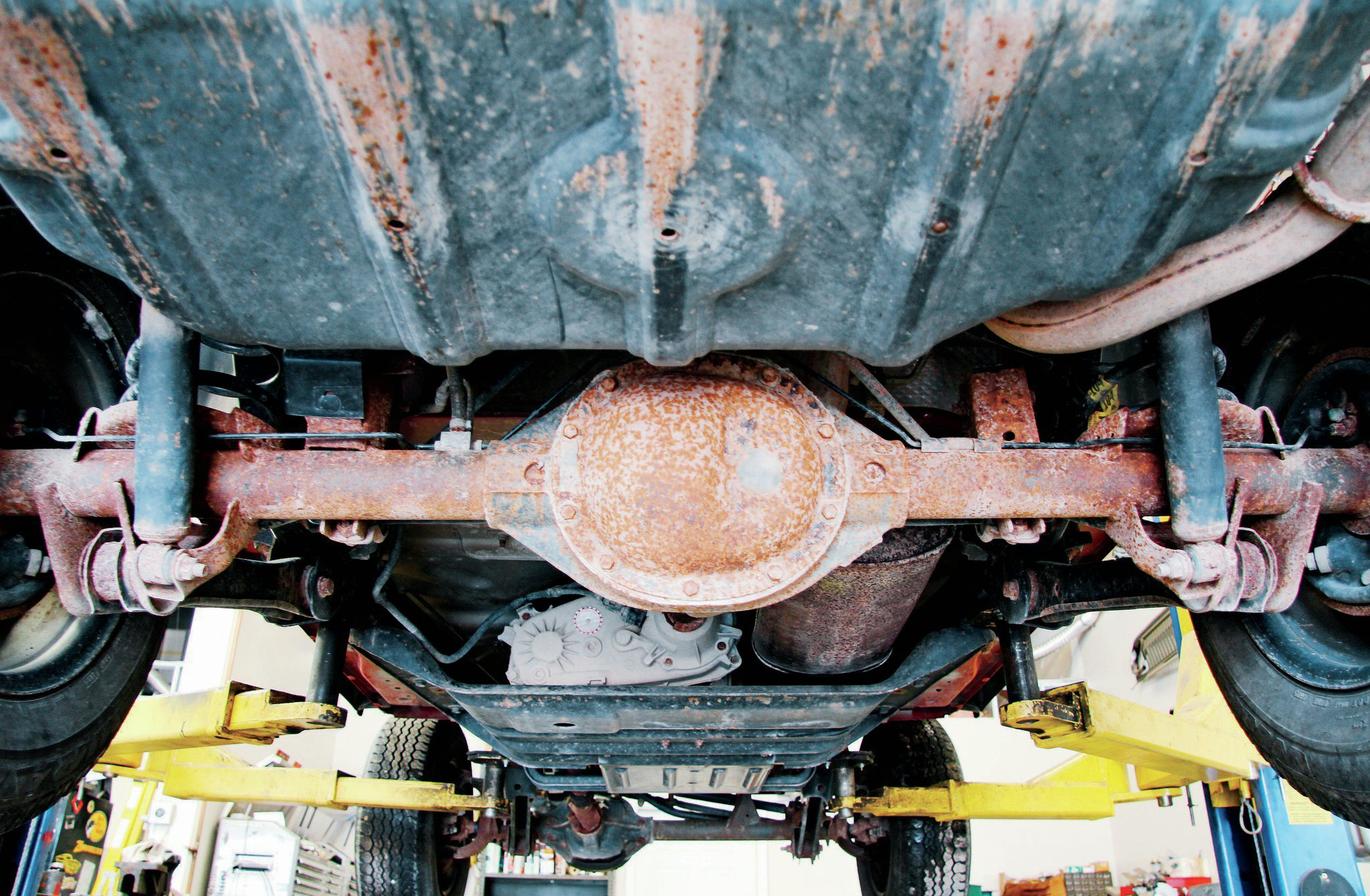 If the Jeep's rear axle looks like the one in this photo, you're going to want to find a replacement axle eventually. We simply can't get behind spending money on a Dana 35 axle. When you consider other available rear axle options, it's better to replace. The fact we know the Dana 35 is far less desirable than the Dana 44 you hope is actually out back won't always be an easy negotiation point. Don't let a Dana 35 rear axle stop you from getting the Jeep. Just remember to budget for a rear axle upgrade.