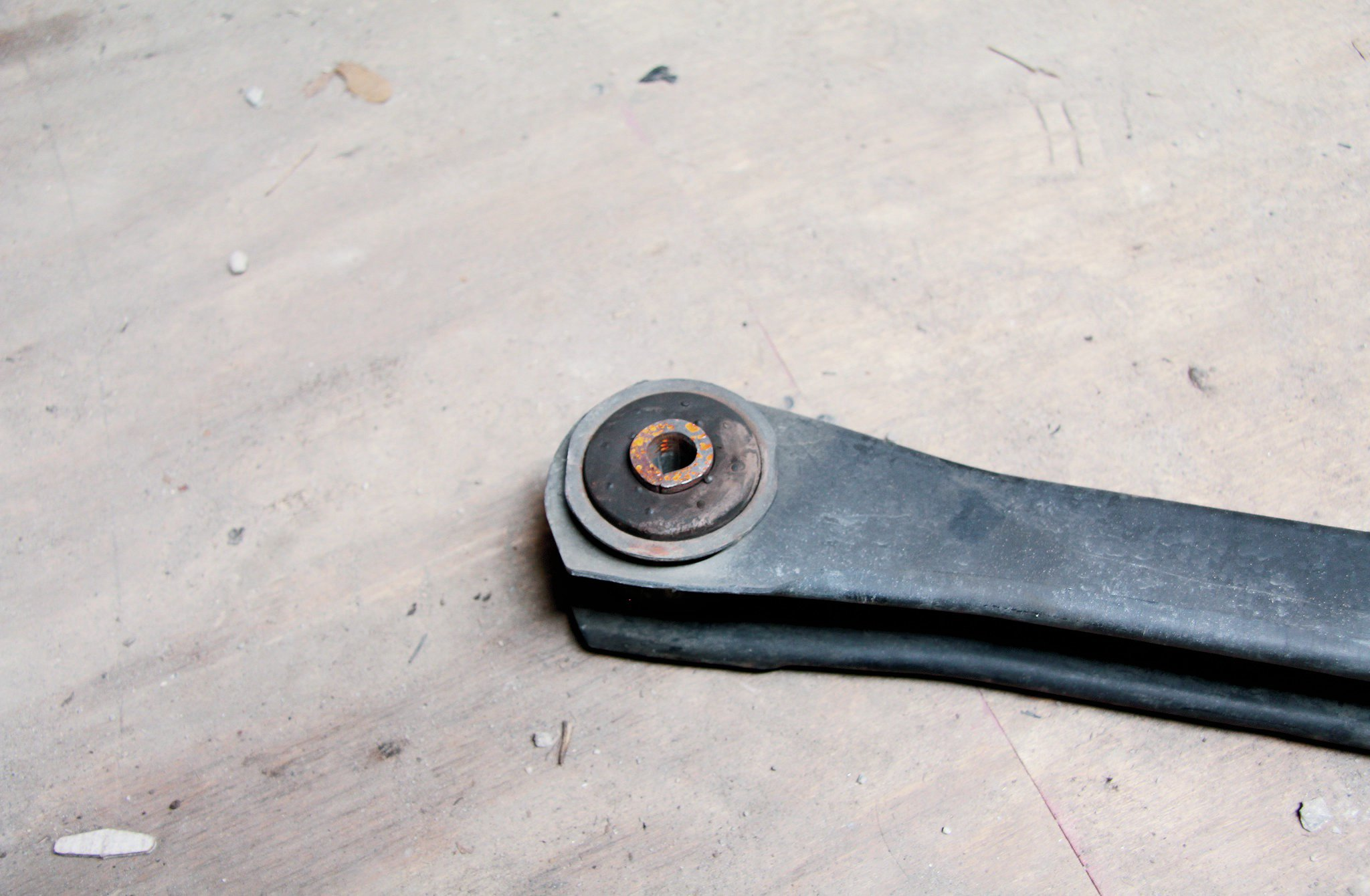 The rubber bushings on the TJ's stock control arms are actually incredibly durable. If the Jeep is stock, chances are they are probably fine. We've actually seen more rapid joint failure with cheap poly bushings (common on budget lift kits). Basic suspension neglect can cause an otherwise solid Jeep to drive and sound terrible. Suspension joints and even complete systems are pretty inexpensive these days for the TJ. Use the previous owner's neglect to make your dollar go farther.