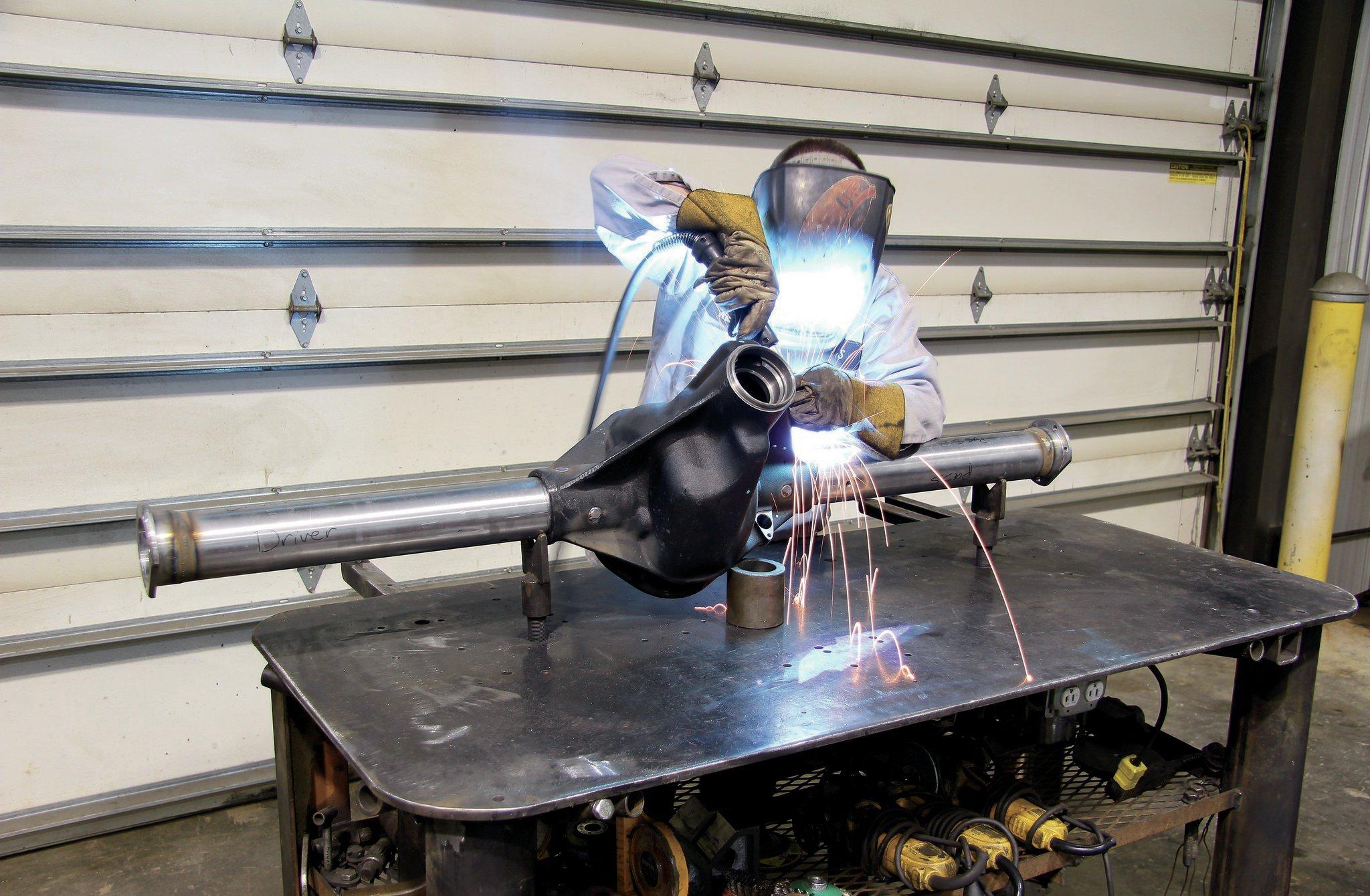 welding axle housing