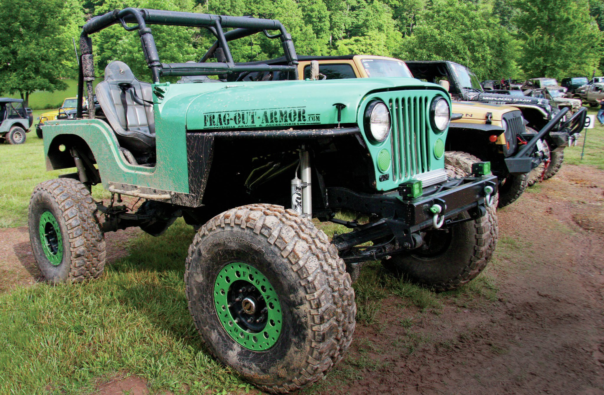 The spring-over Leprechaun from Frag-Out-Armor in Chester, Virginia, was in attendance. It's a nicely built CJ-5 that's clean and well fortified. These guys are also avid supporters of 4 Wheel To Heal.