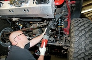 cutting aftermarket steering box stabilizer
