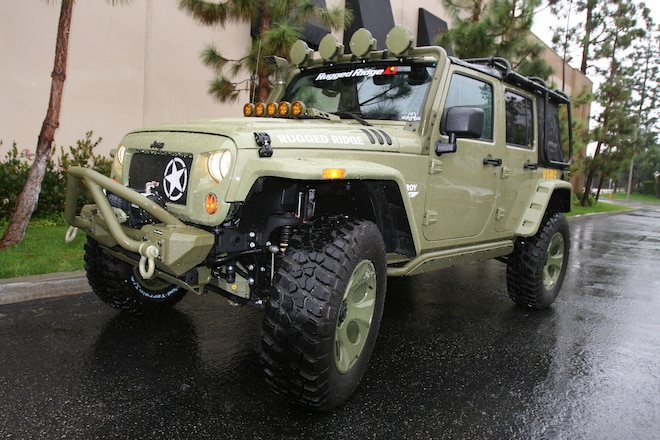 Driving R. Lee Ermey's Kilroy Jeep Wrangler JK Back from the SEMA Show