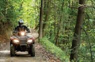2015 honda foreman rubicon atv on the trail