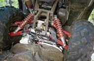 The 2015 Foreman Rubicon's independent rear suspension was