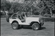 steve mcqueens jeep with ingelwood stagger block tires