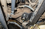 steering box brace installed
