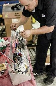 wiring gauges in dash